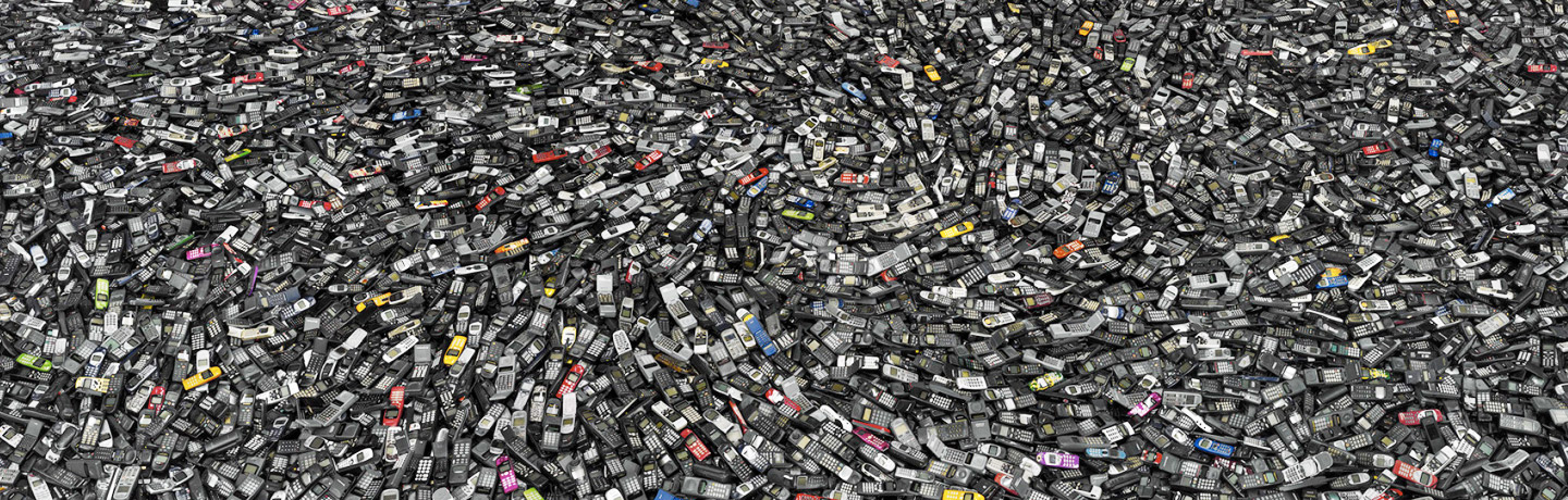 Cell phones #2, Atlanta 2005 by Chris Jordan