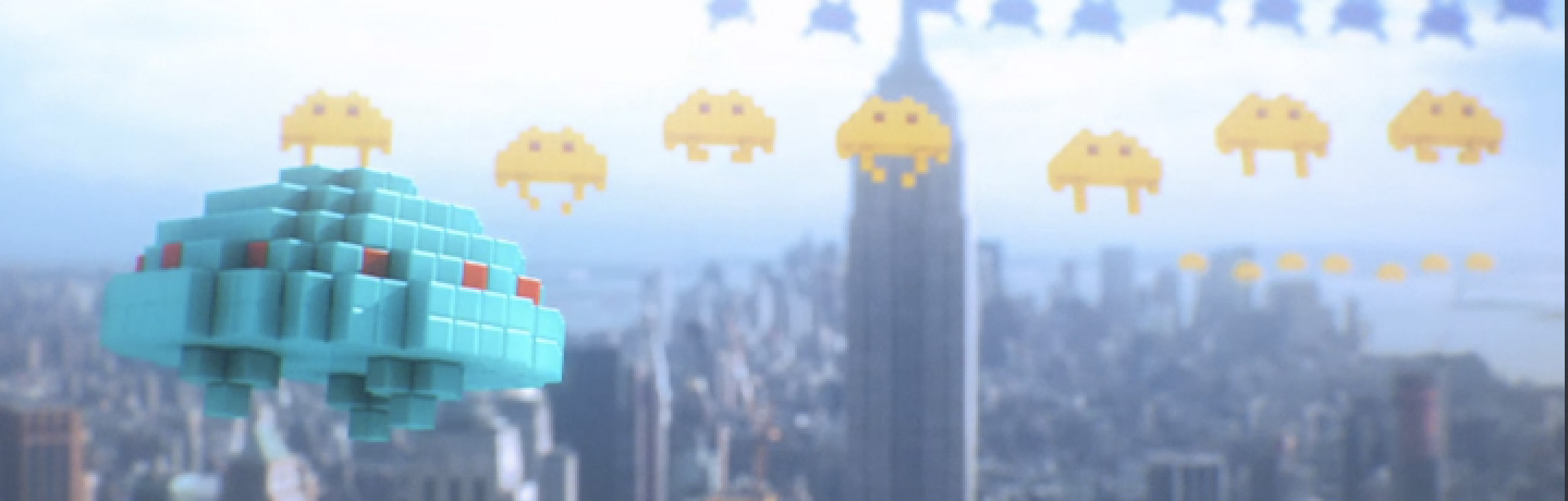 still from the short film PIXELS by Patrick Jean