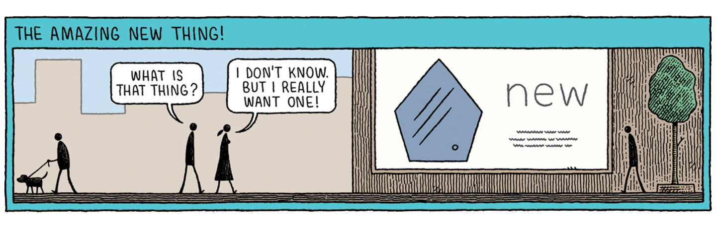 The Amazing New Thing by Tom Gauld, New York Times Magazine